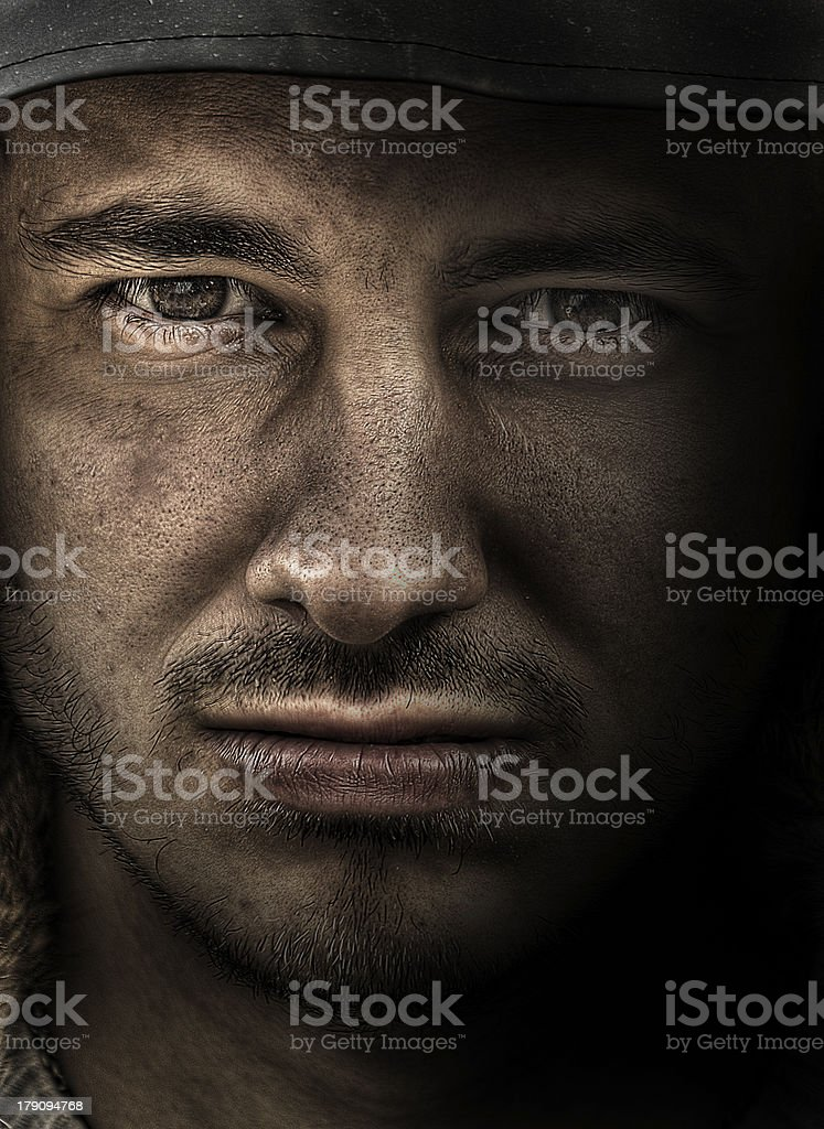 Powerful man portrait royalty-free stock photo