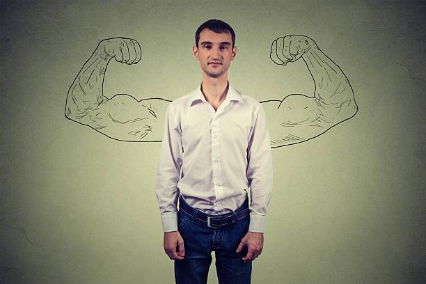Puissant homme, ambition et réalité vs une douce illusion concept - Photo