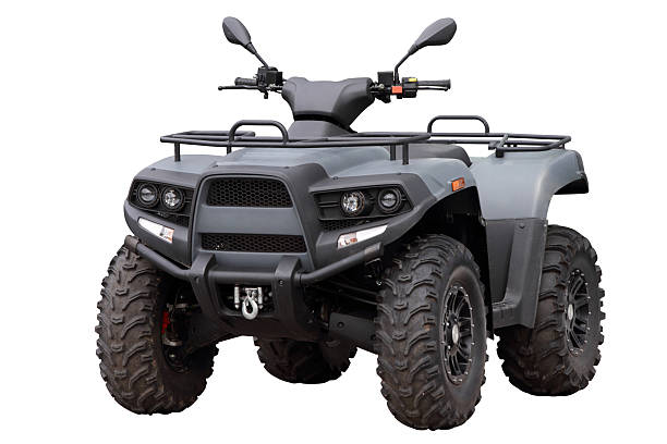 Powerful modern ATV Powerful modern ATV, isolated on white background quadbike stock pictures, royalty-free photos & images