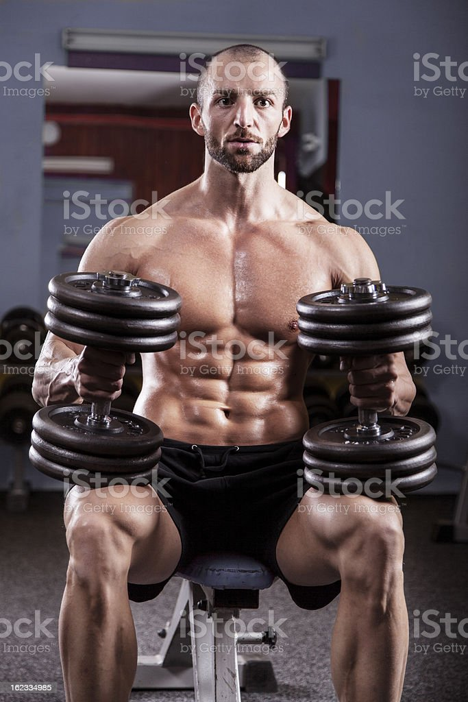 Powerful muscular man royalty-free stock photo