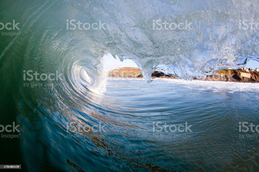 Powerful Ocean Wave stock photo