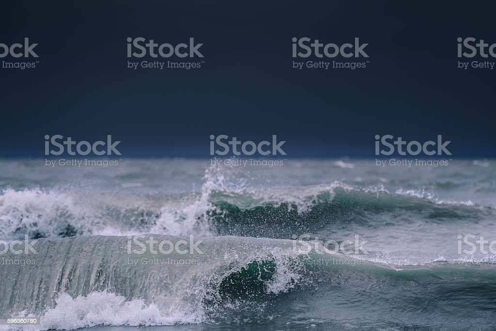 Powerful ocean waves royalty-free stock photo