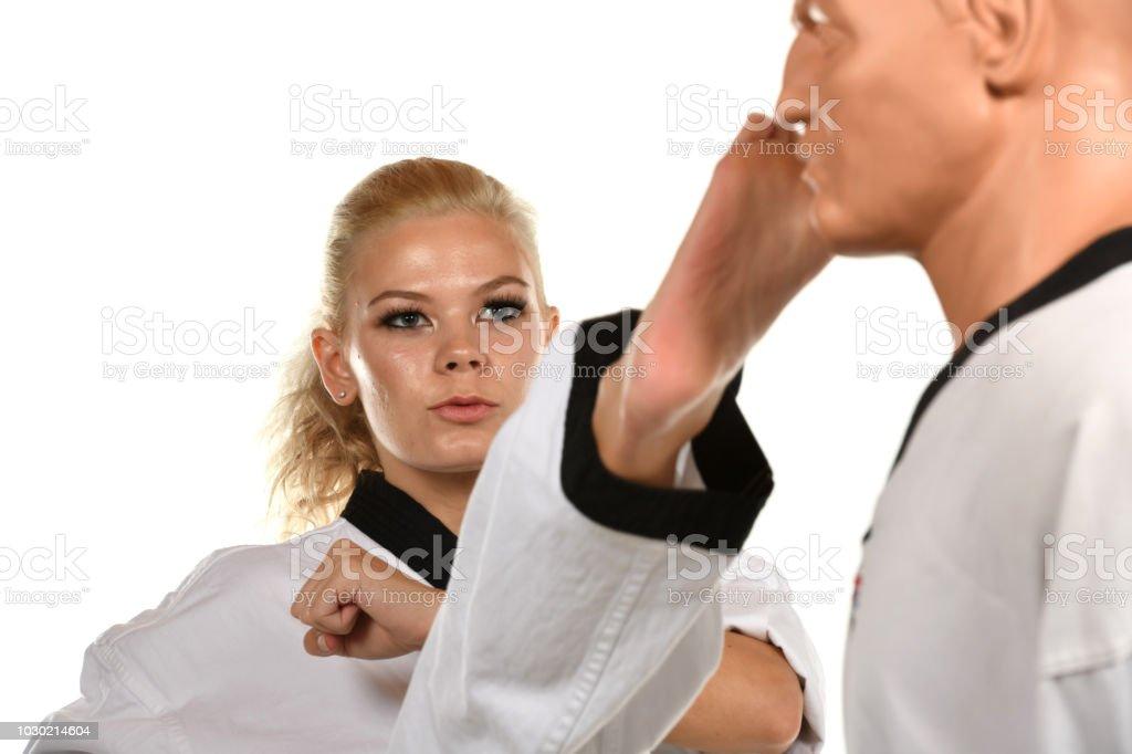 Powerful Self-Defense Technique stock photo