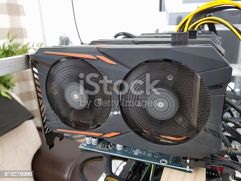 istock A powerful supercomputer for mining on video cards 915276996