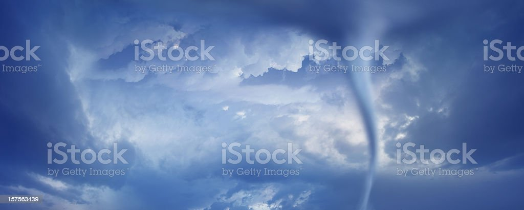 powerful tornado twister royalty-free stock photo