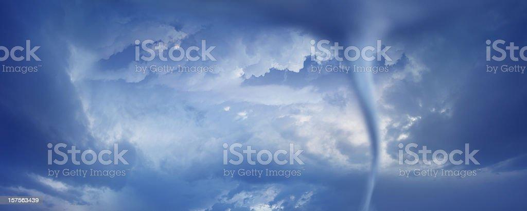 powerful tornado twister stock photo