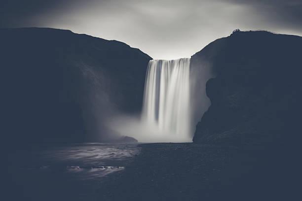 Powerful waterfall stock photo