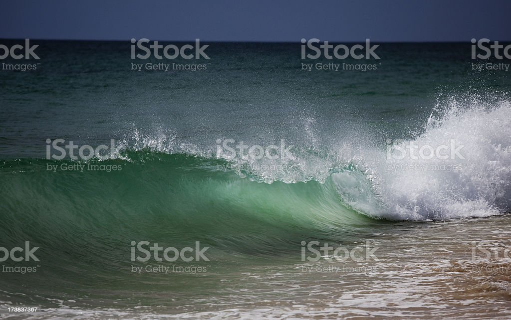 Powerful wave stock photo