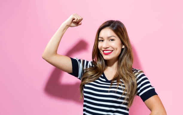 Powerful young woman stock photo