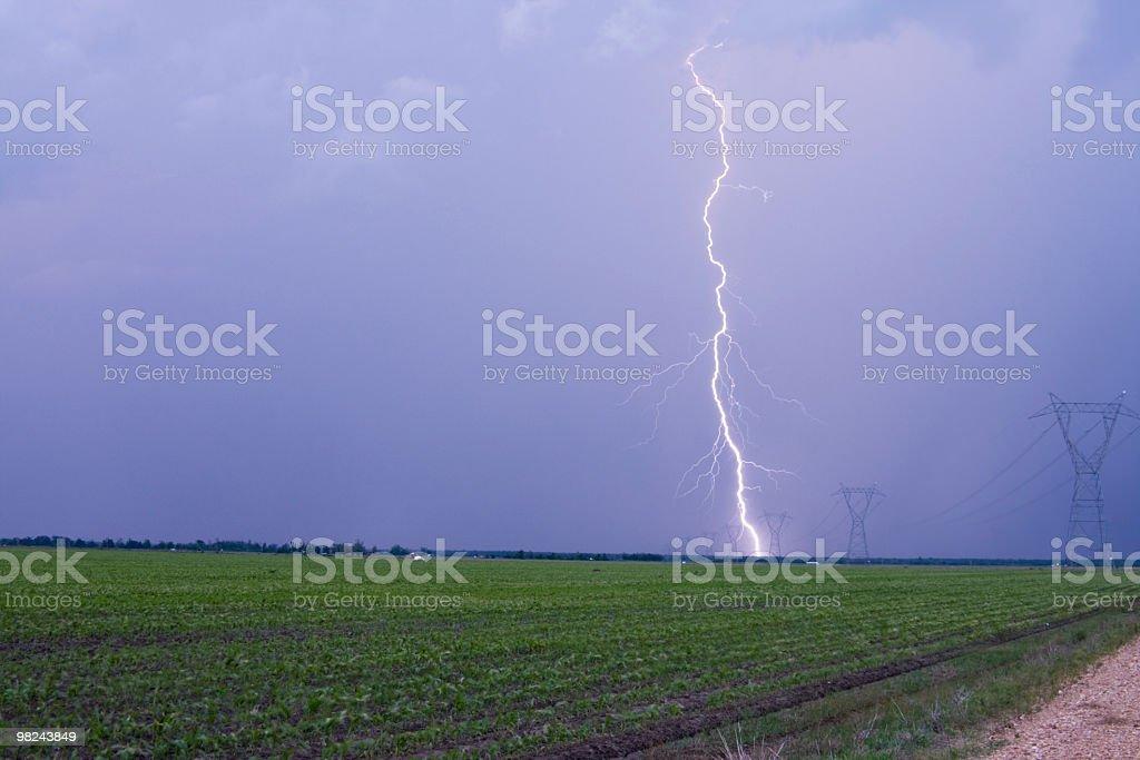 Powerfull Lightning royalty-free stock photo