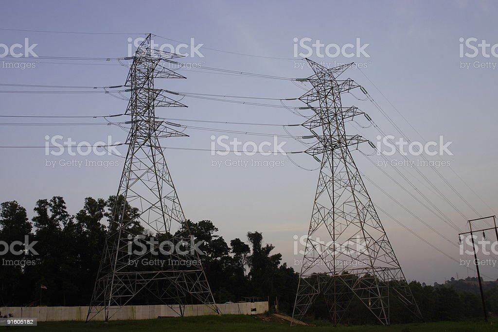 PowerLine 6 stock photo