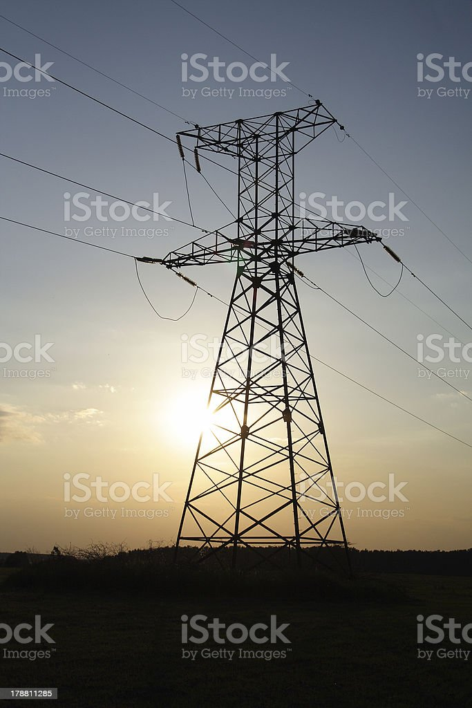 Der powerline – Foto