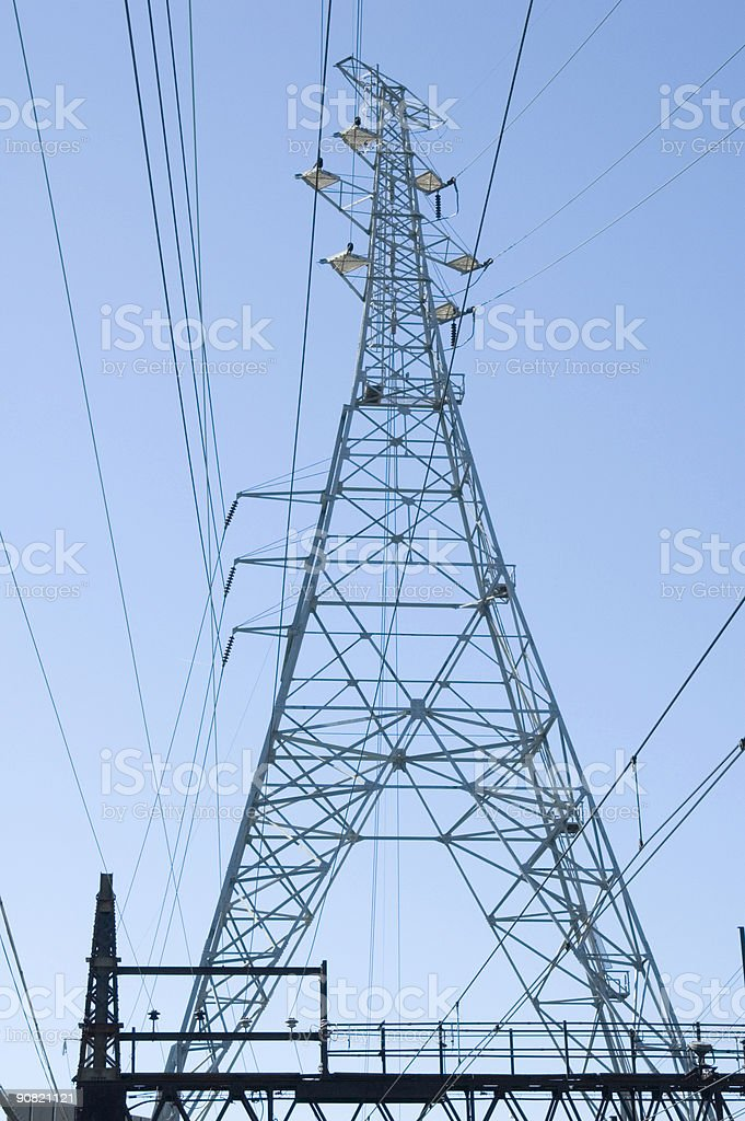 Powerline royalty-free stock photo