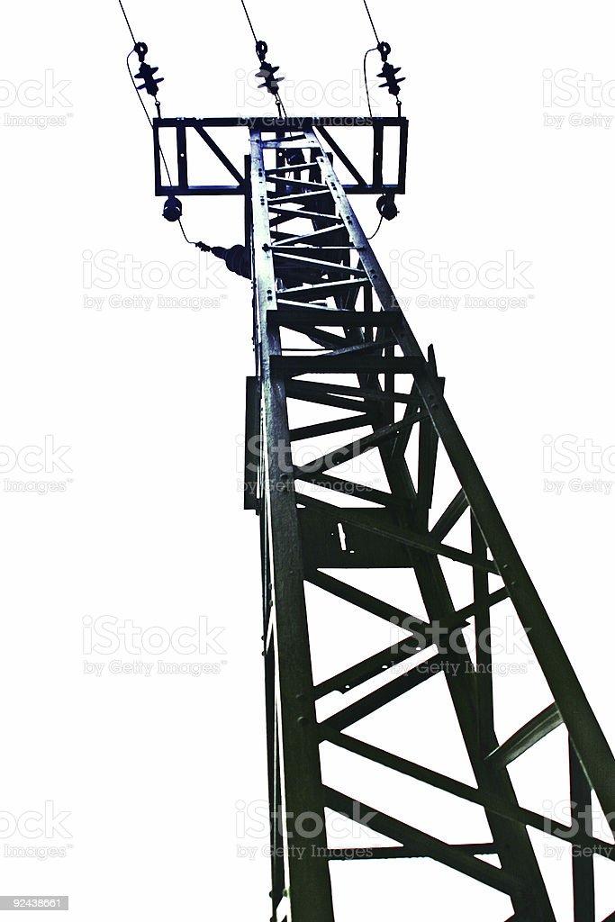 Powerline stock photo