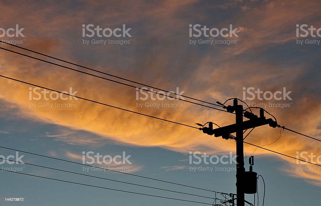 powerlines stock photo