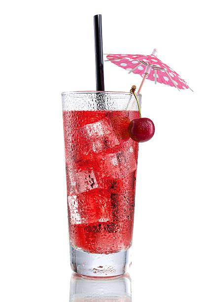 Powerpint with Cherry and  Umbrella stock photo