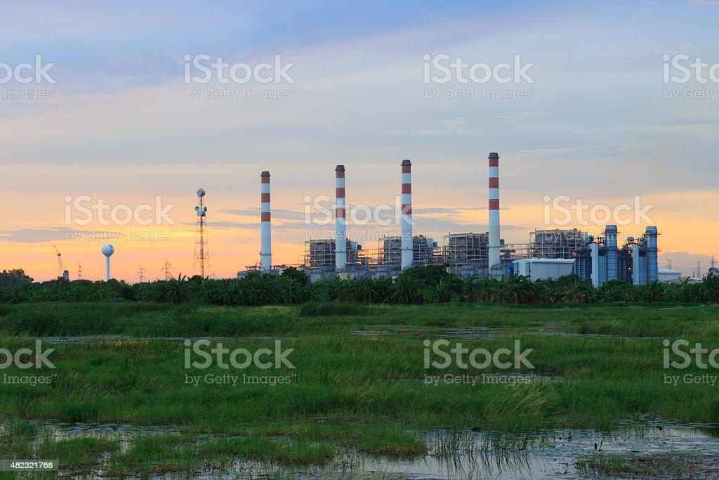 Powerplant station,energy,Thailand stock photo