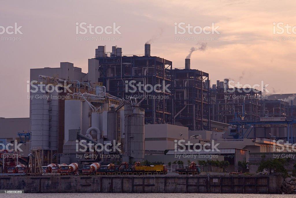 Powerstation Sunset royalty-free stock photo