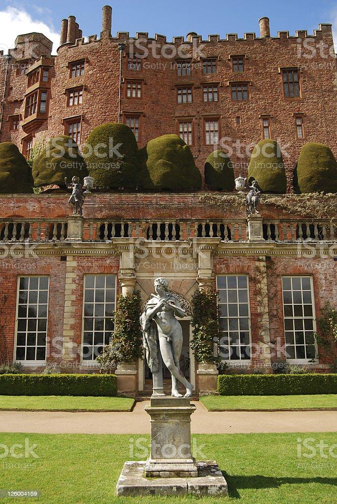 Powis Castle stock photo