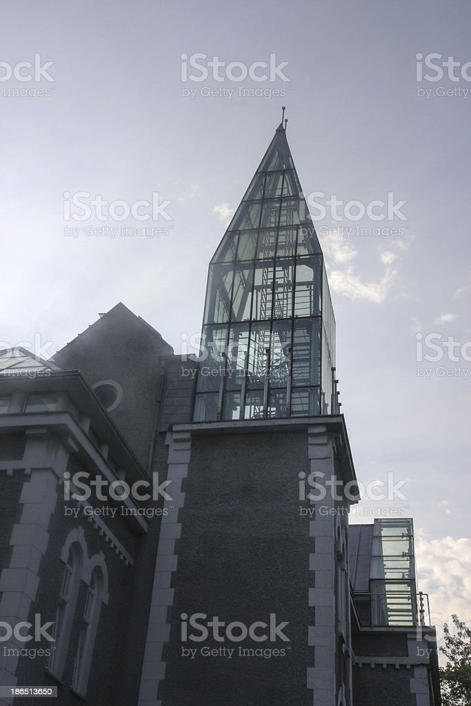 Powisle Architecture in Warsaw royalty-free stock photo