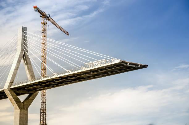 poyab köprüsü inşaat altında, freiburg, isviçre - bridge stok fotoğraflar ve resimler