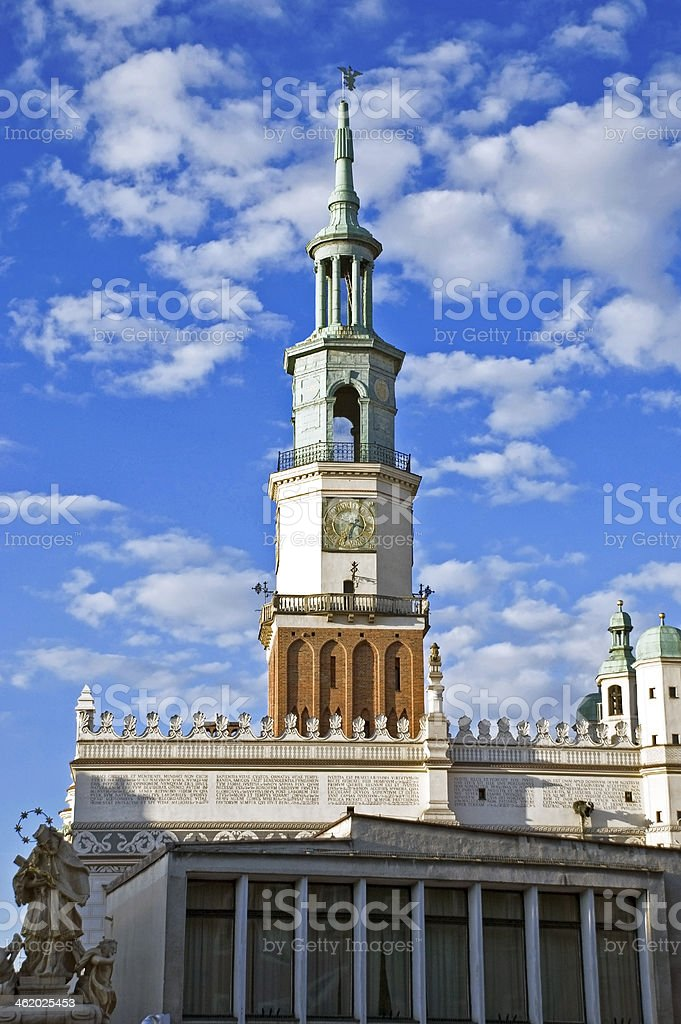Poznan city hall stock photo