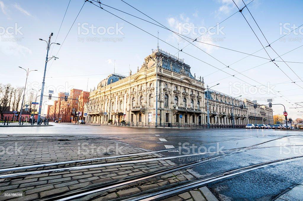 Poznanski Palace, city of Lodz, Poland