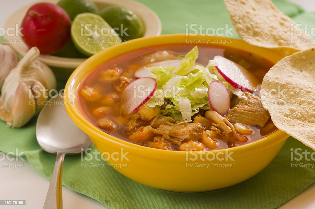 Red Pozole stock photo