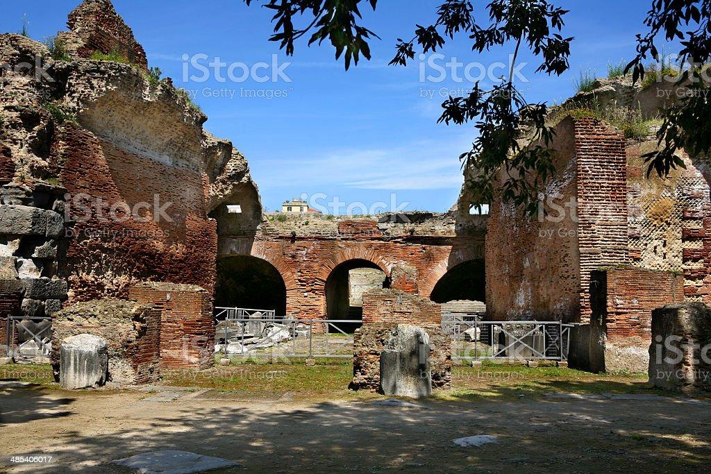 pozzuoli anfiteatro flavio stock photo