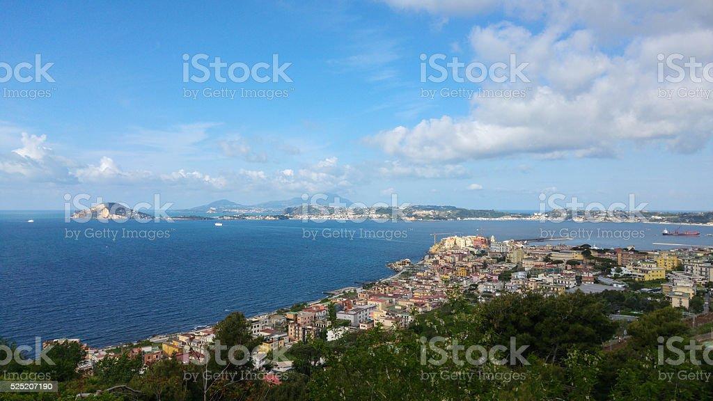 Pozzuoli Coastline, Bay of Naples, Italy stock photo