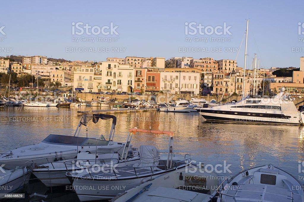 Pozzuoli Harbur with Sail Boats stock photo