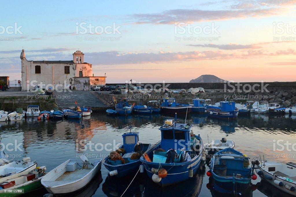 Pozzuoli (NAPLES), little harbor stock photo