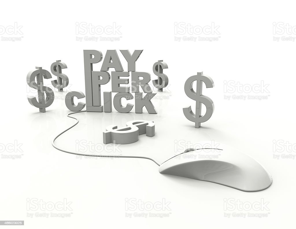 PPC-pay per click royalty-free stock photo