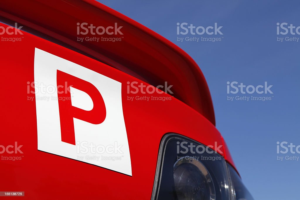 P-Plate stock photo