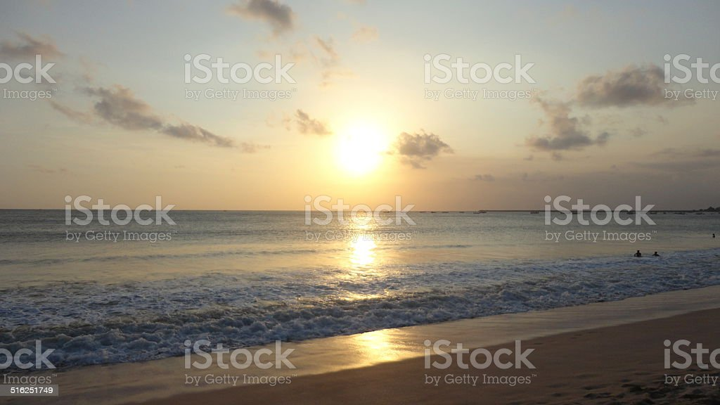Pôr do Sol - Jimbaran stock photo