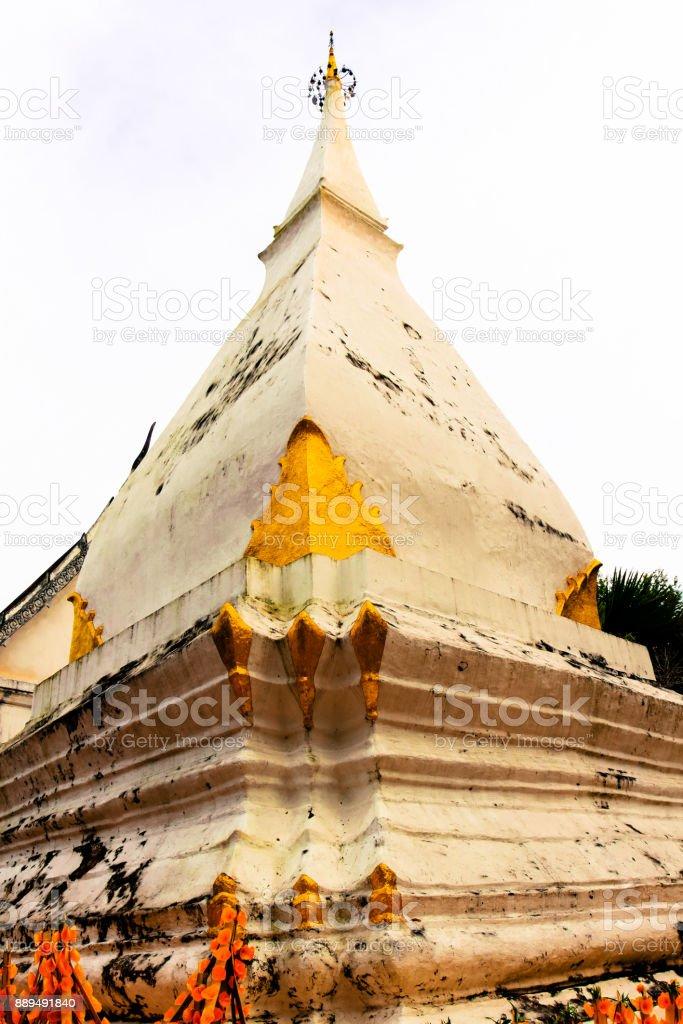 Pra Tat Sri Song Luck Historic stupa Loei Thailand stock photo
