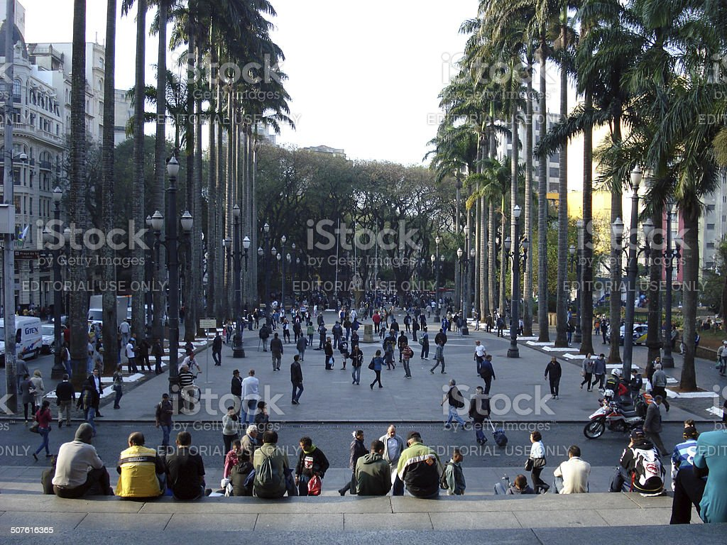 Praça da Sé stock photo