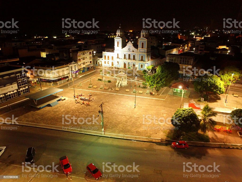 Praça Matriz, Santarém, Pará - Brazil stock photo