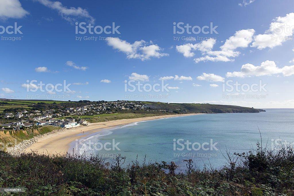 Praa Sands Cornwall England near Penzance and Mullion stock photo