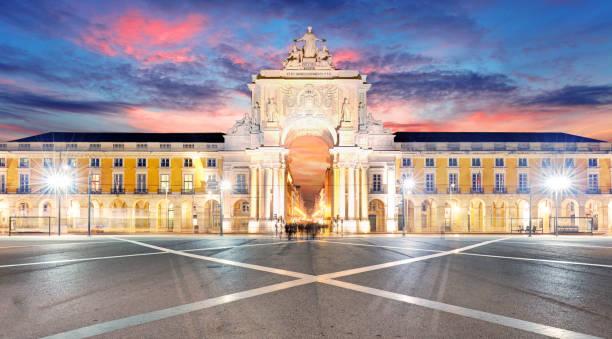 Praca de Comercio bei Sonnenuntergang, Lissabon – Foto