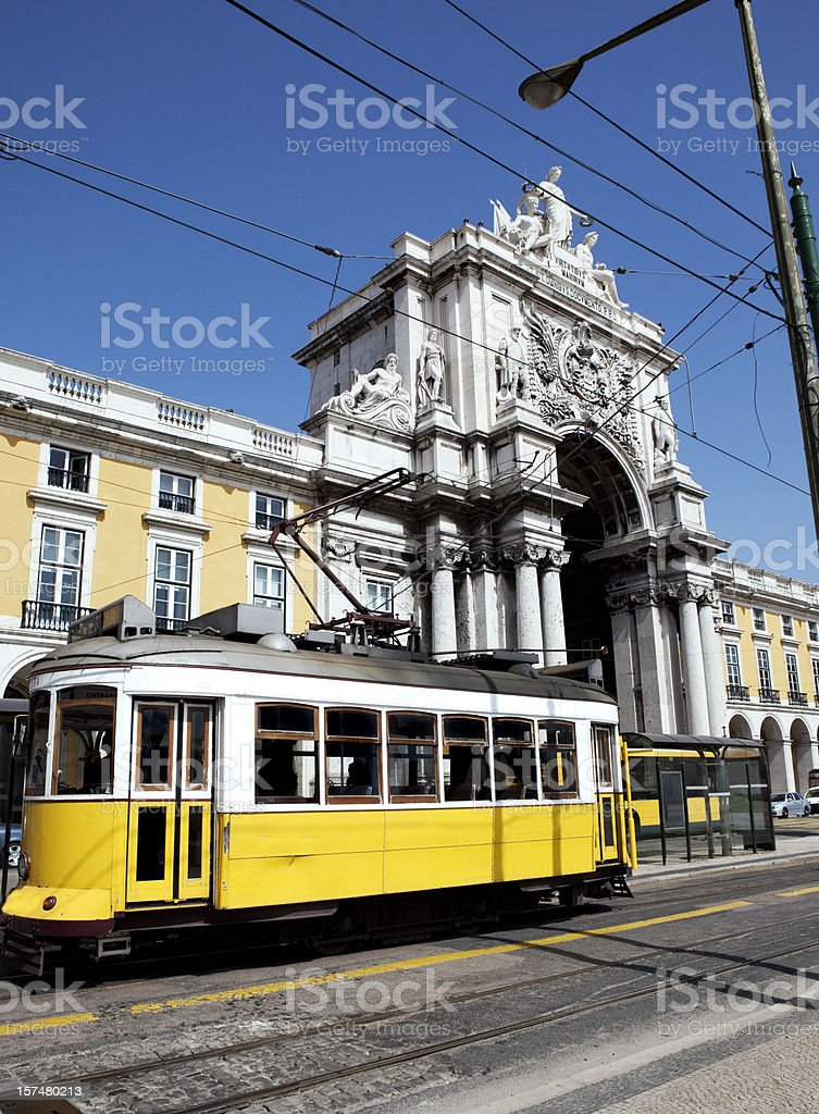 Praca do Comércio in Lisbon Portugal royalty-free stock photo