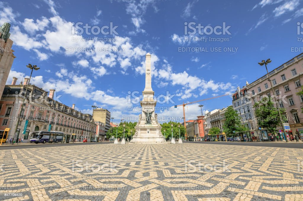 Praca dos Restauradores Lisbon stock photo