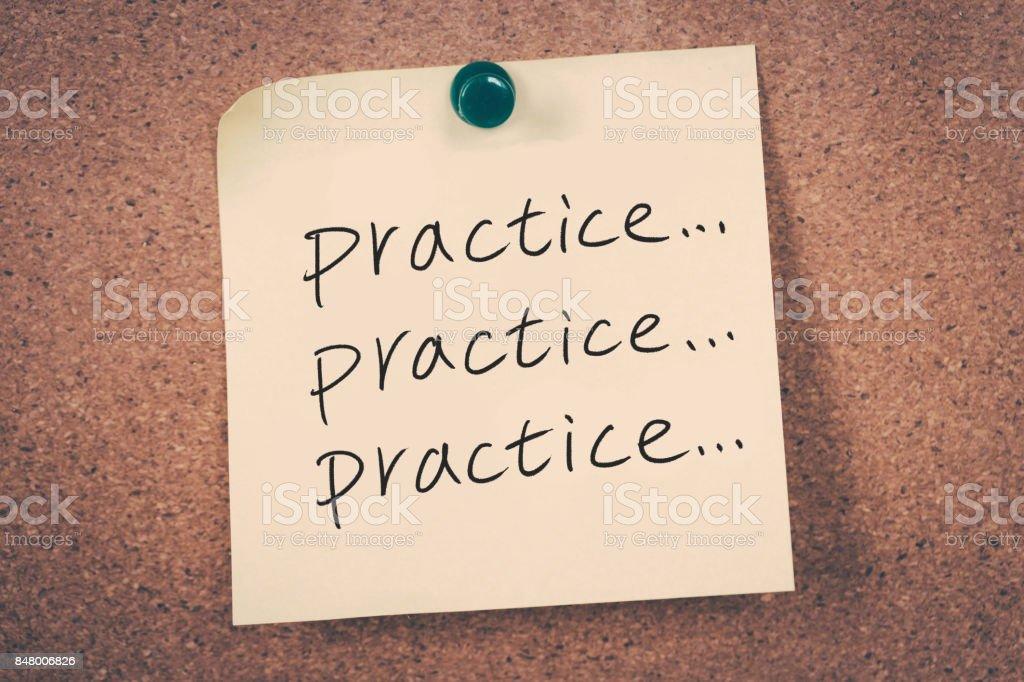 practice concept stock photo