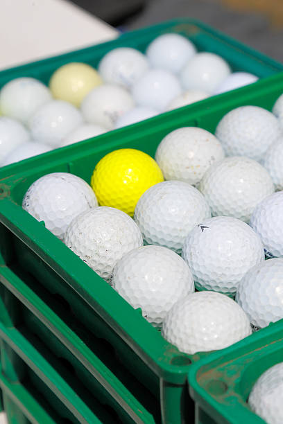 Practice field of the golf ball stock photo