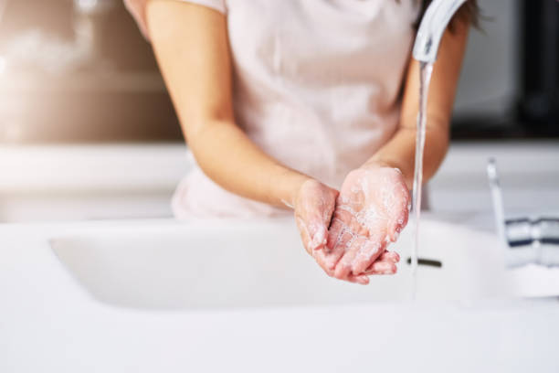 Practice good hygiene stock photo