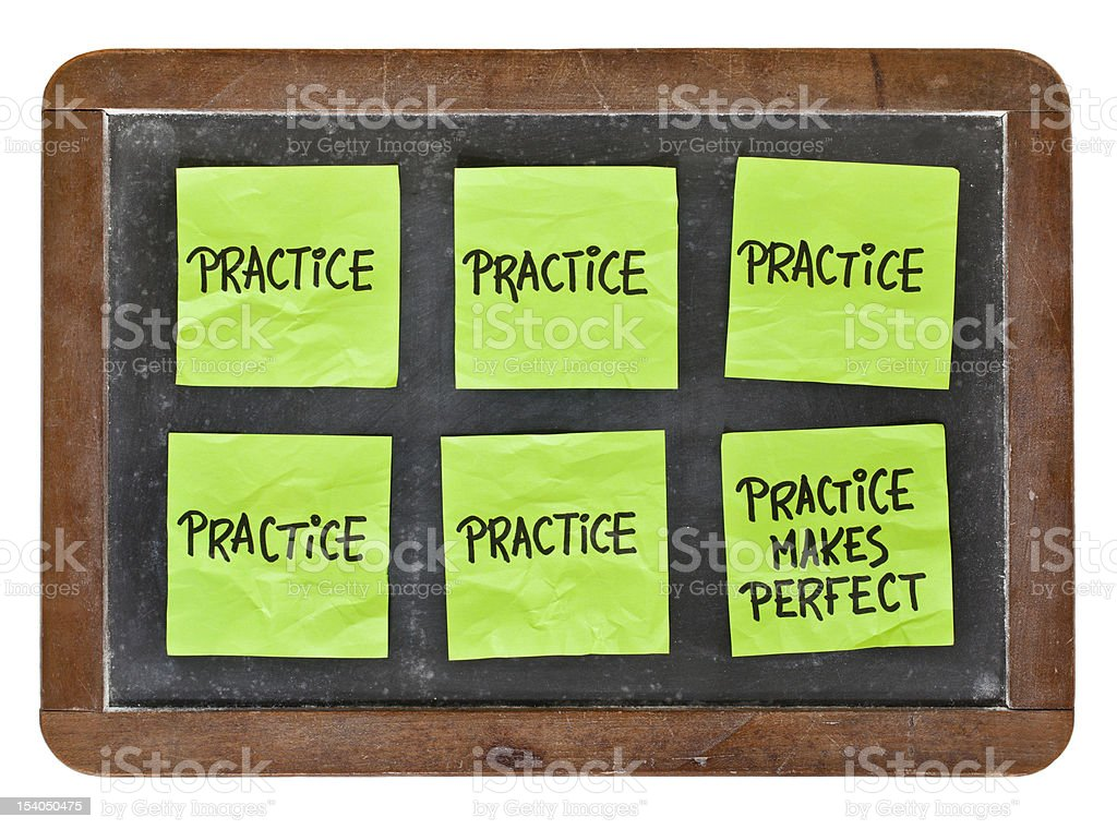 practice makes perfect concept stock photo