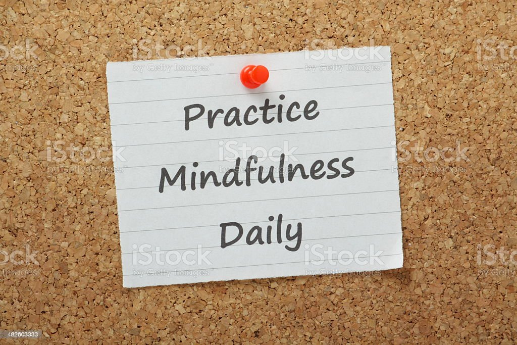 Practice Mindfulness Daily stock photo