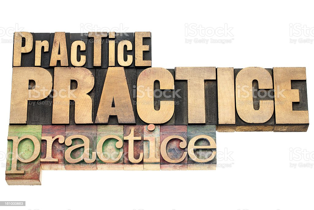 practice - motivation concept stock photo