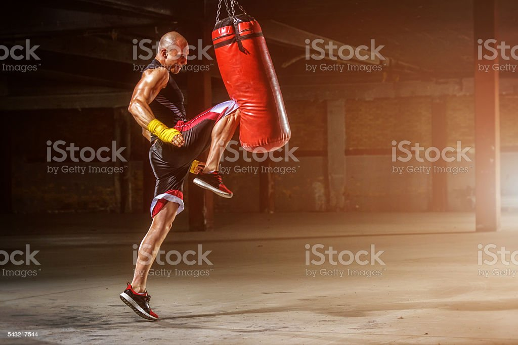 MMA Practice stock photo