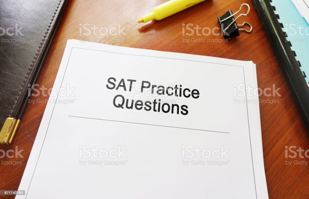 SAT Practice Questtions stock photo